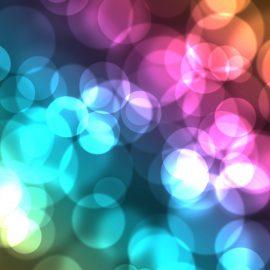 Hazy photo of colors circles of light